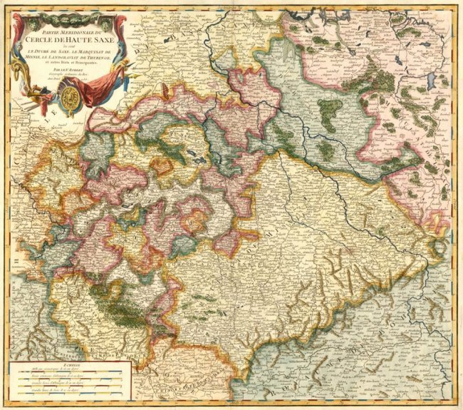 Saxony, Germany. Atlas Universel. Robert de Vaugondy