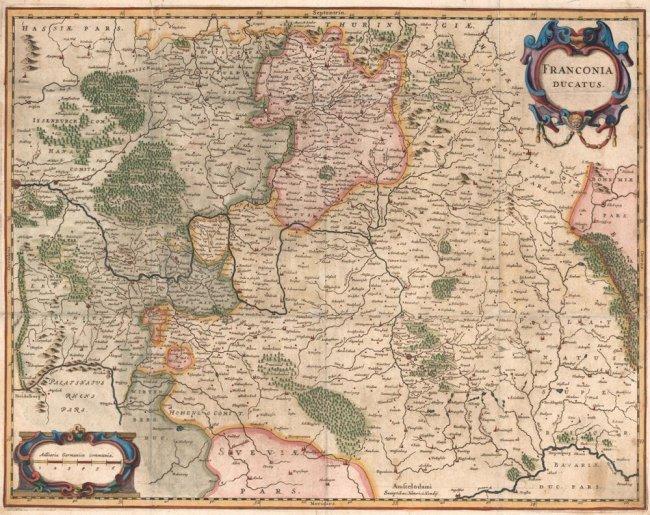 Franconia Ducatus. Hendricus Hondius.