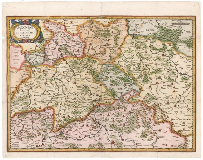 Saxony. Mercator & Hondius