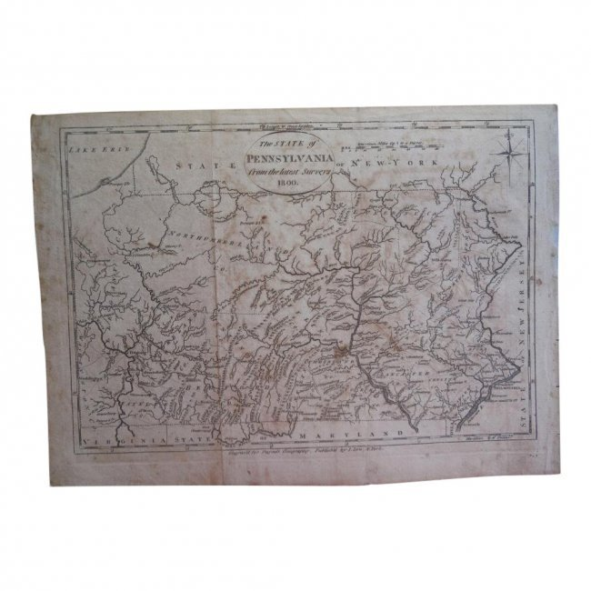 The State of Pennsylvania from the Latest Surveys, 1800