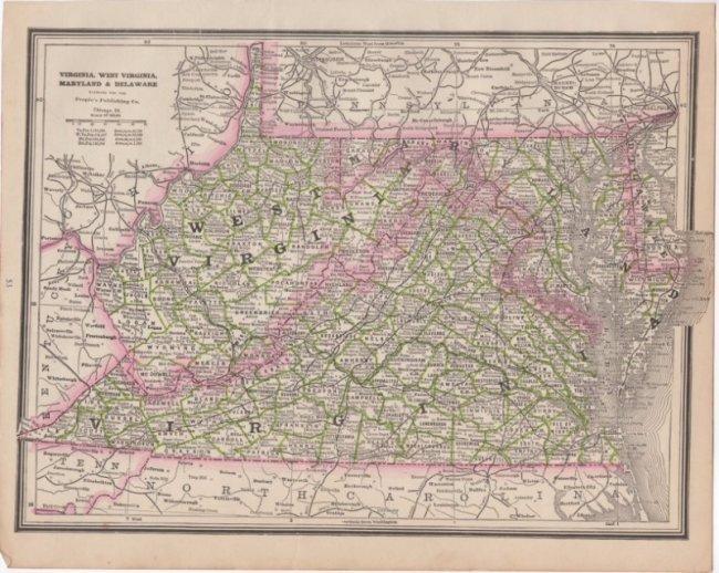 Virginia, West Viriginia, Maryland & Delaware