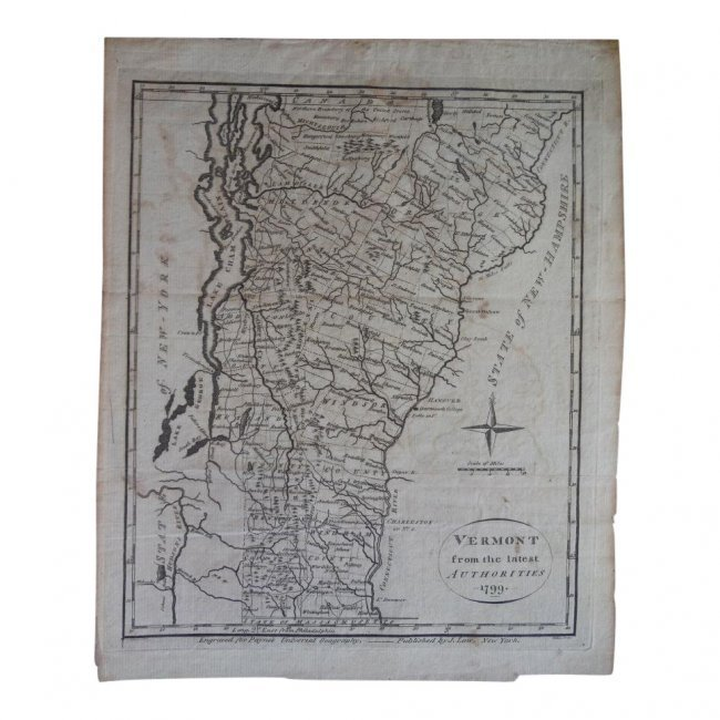 Vermont from the Latest Authorities, 1799