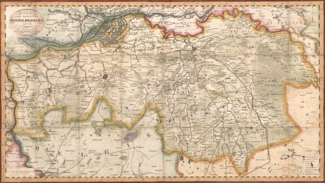 Kaart der Provincie Noord Braband. D. Veelward Jr.
