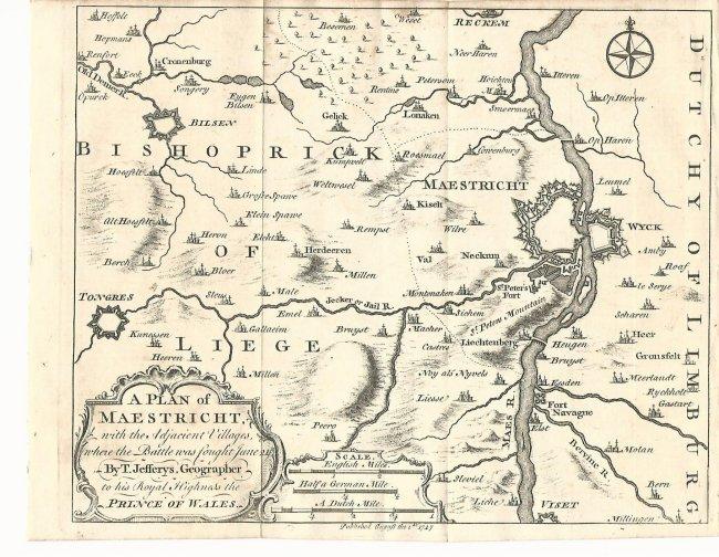 Plan of Maestricht, 1747