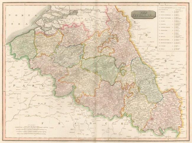 The Netherlands. The New General Atlas. John Thomson