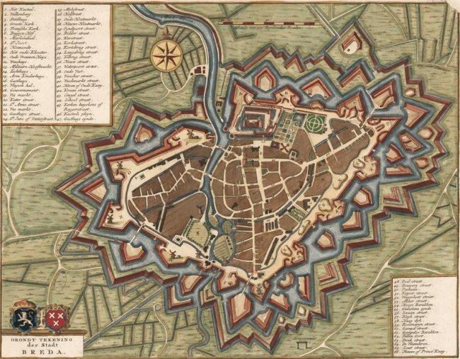 Plan of the City of Breda (Netherlands). van Goor.