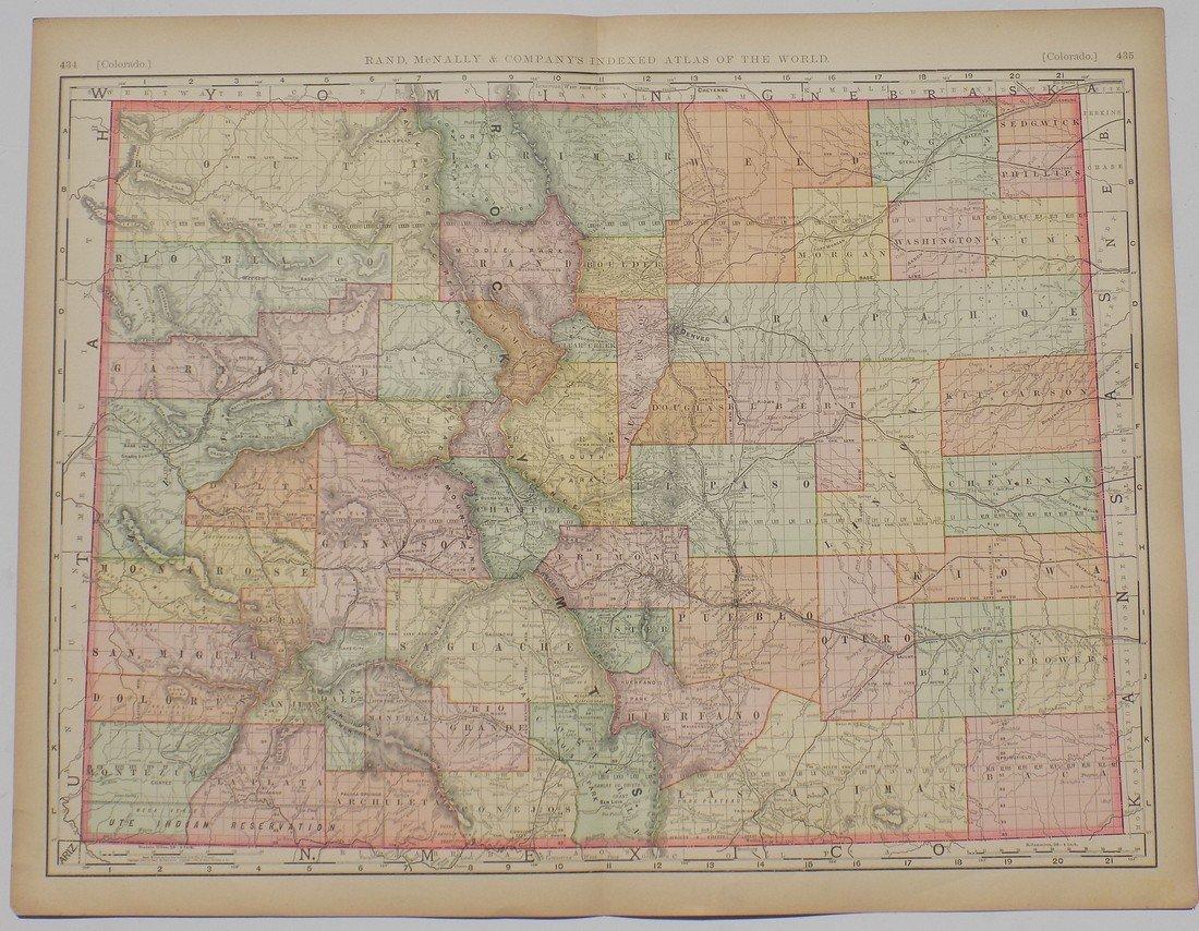 Map of Colorado, 1895