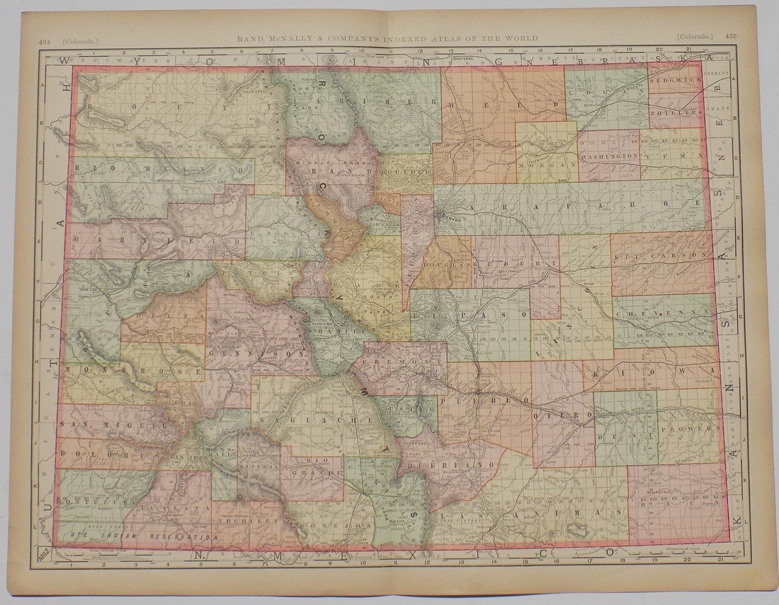 Map of Colorado, 1895