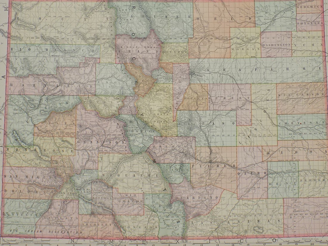 Map of Colorado, 1895 - 2