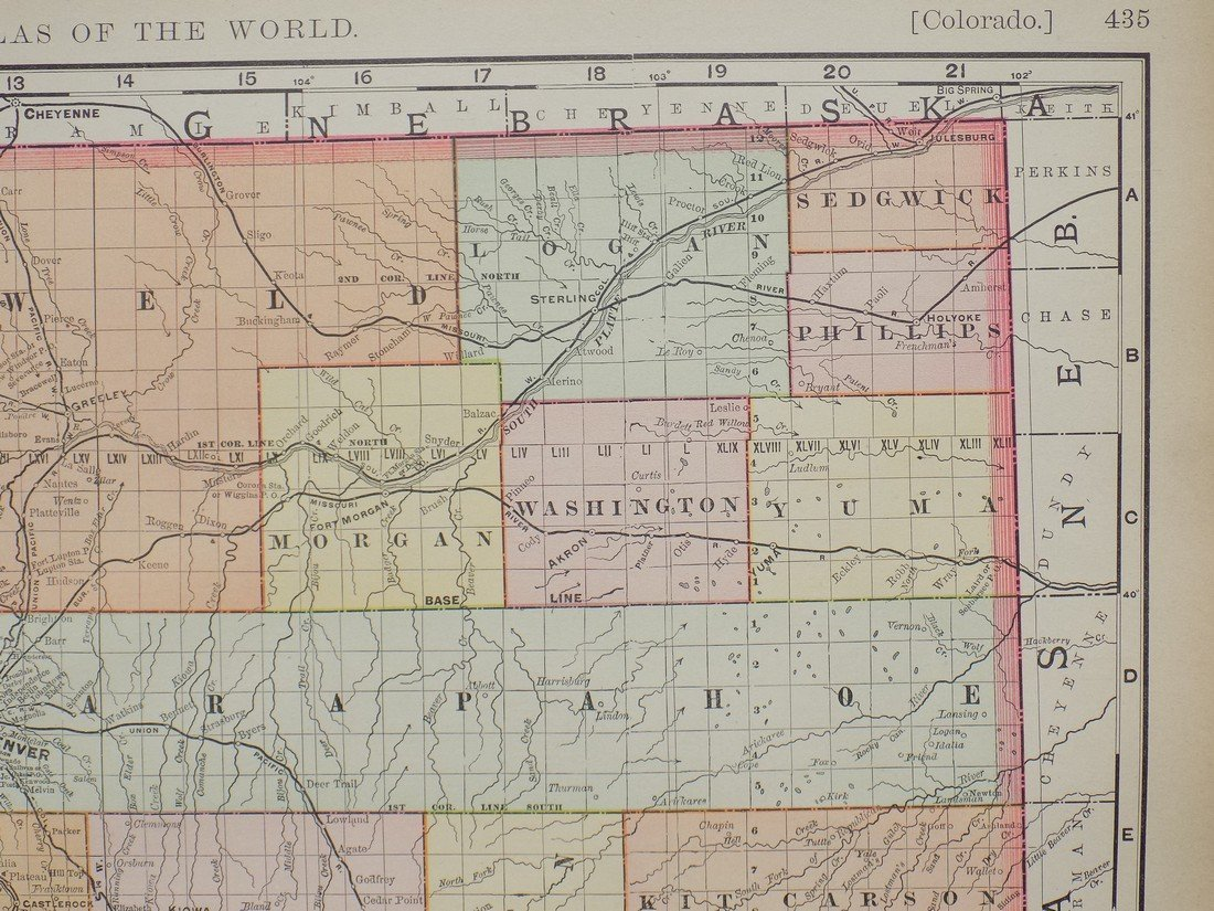 Map of Colorado, 1895 - 3