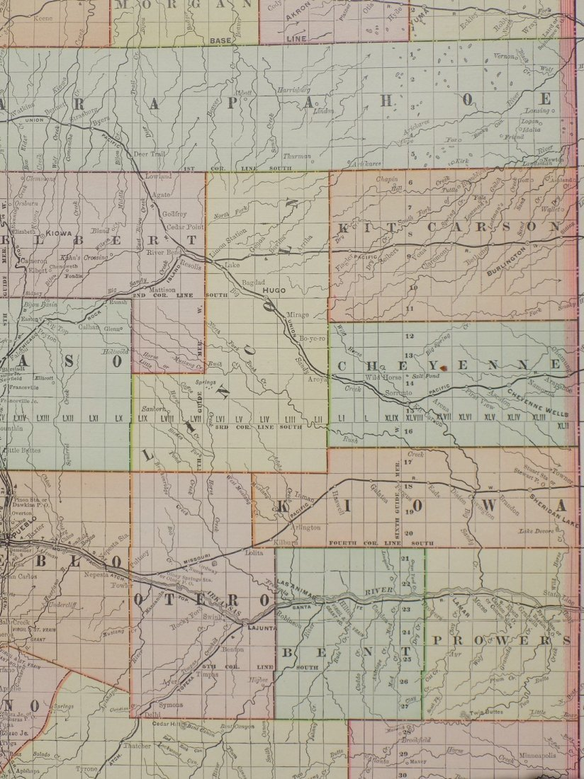 Map of Colorado, 1895 - 4