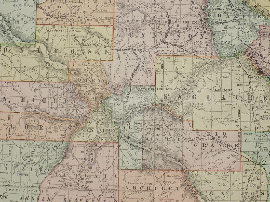 Map of Colorado, 1895 - 5
