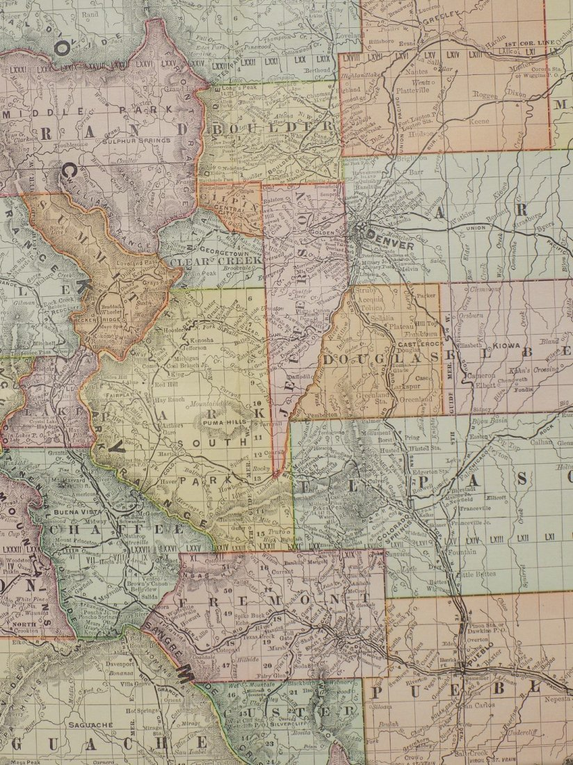 Map of Colorado, 1895 - 6