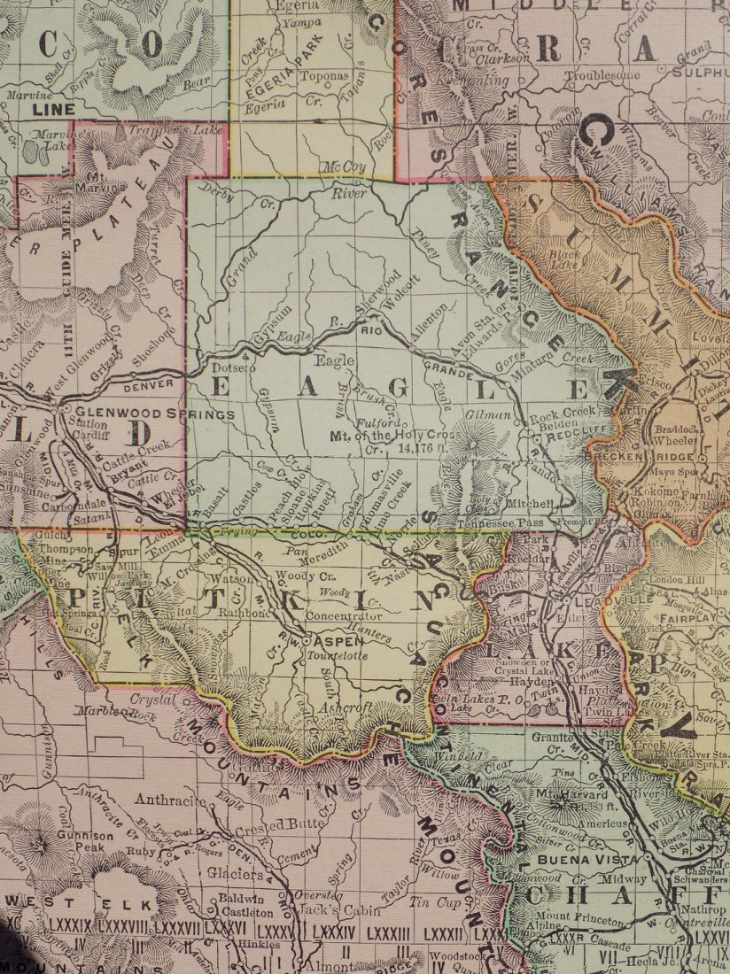 Map of Colorado, 1895 - 8