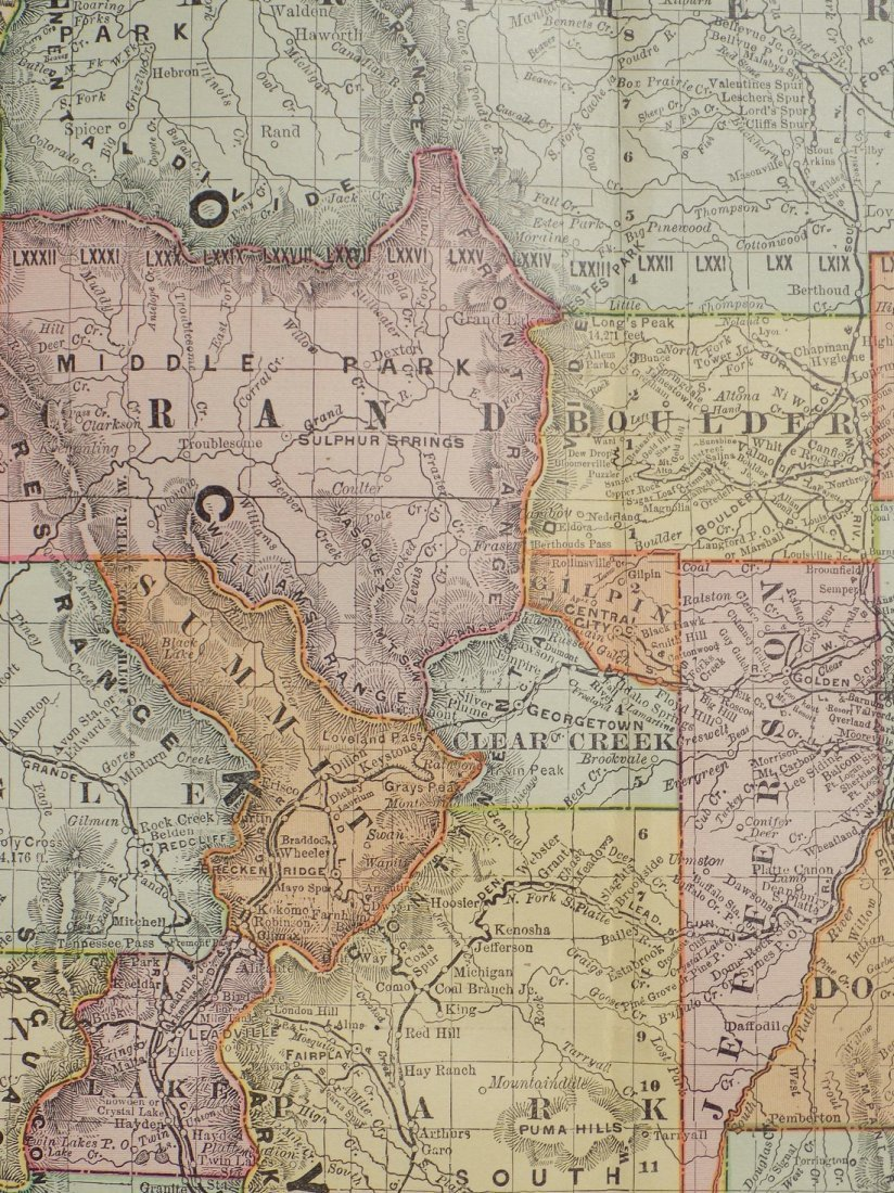Map of Colorado, 1895 - 9