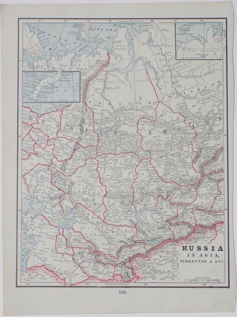 Map of Russia in Asia (Turkestan), 1902