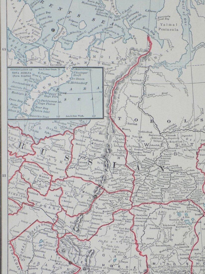 Map of Russia in Asia (Turkestan), 1902 - 3