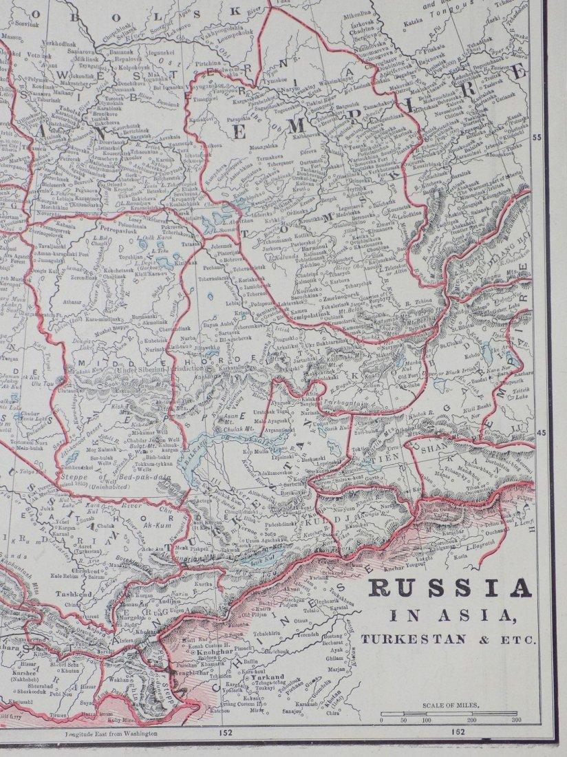 Map of Russia in Asia (Turkestan), 1902 - 5
