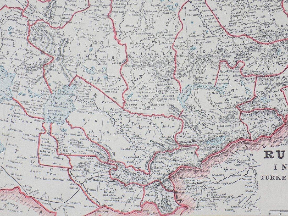 Map of Russia in Asia (Turkestan), 1902 - 6