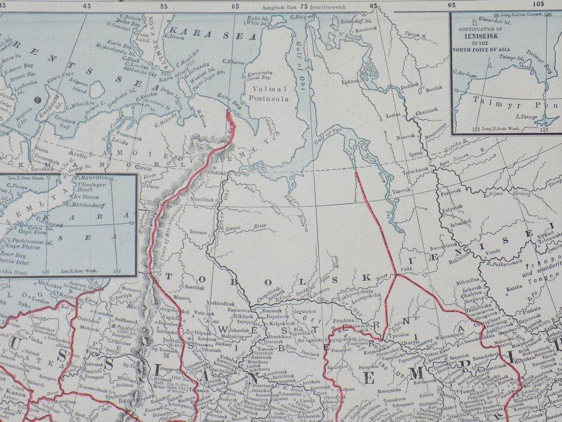 Map of Russia in Asia (Turkestan), 1902 - 7