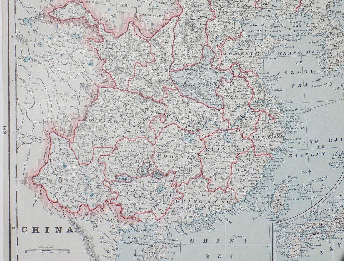 Map of China, 1902 - 2