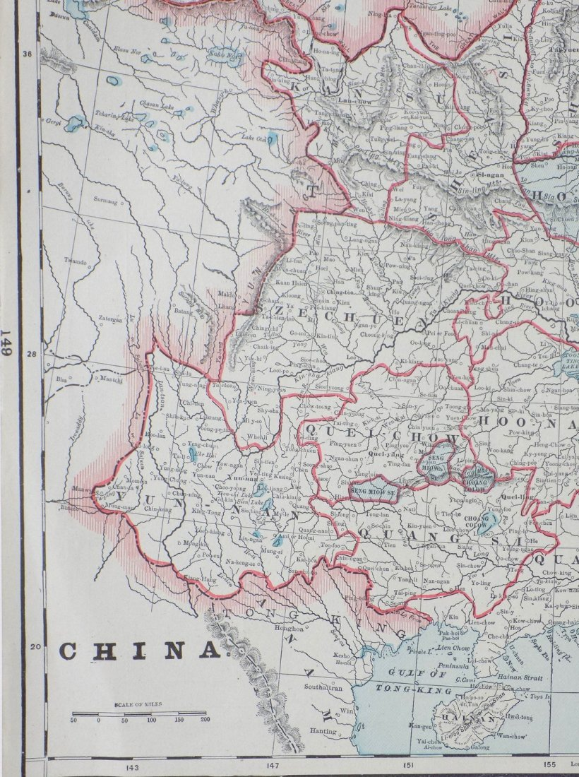 Map of China, 1902 - 3