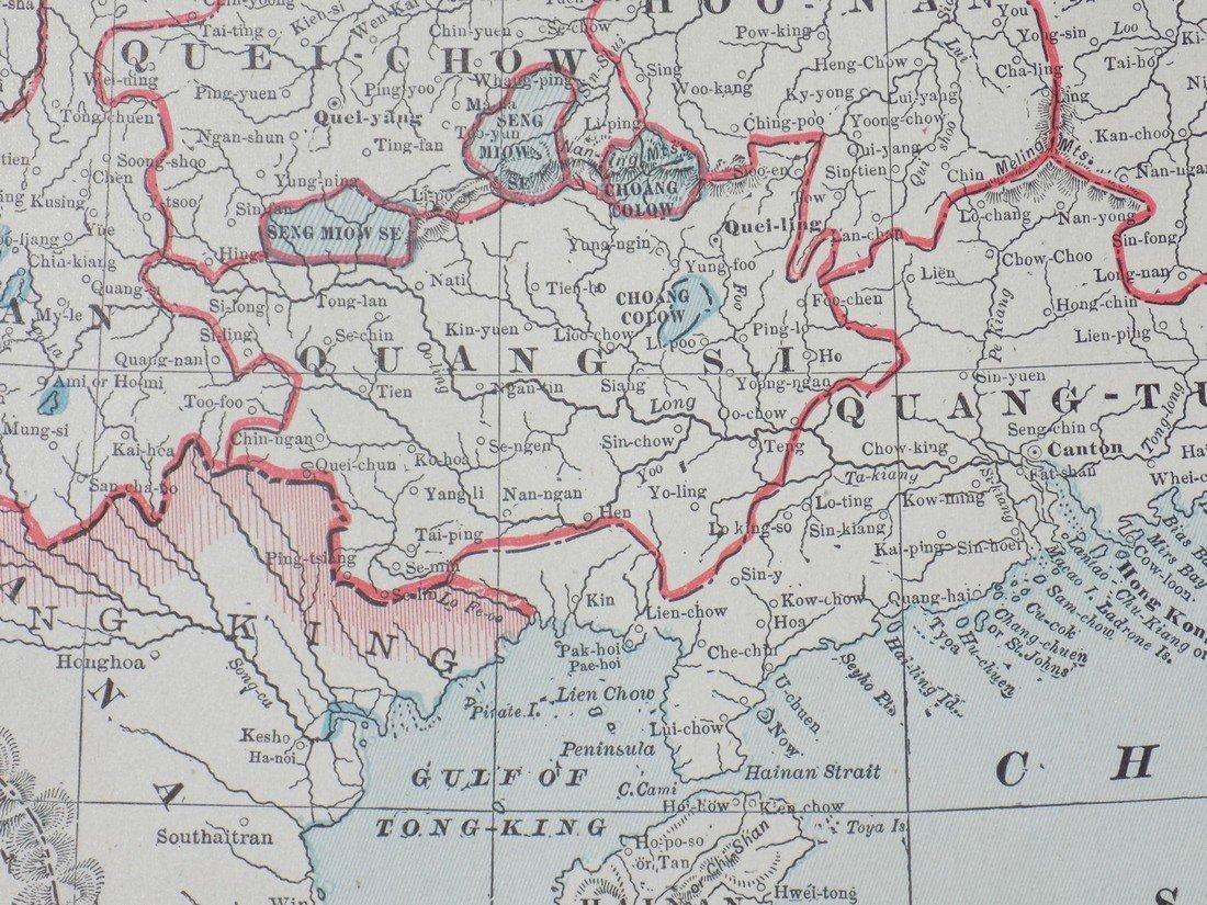Map of China, 1902 - 5