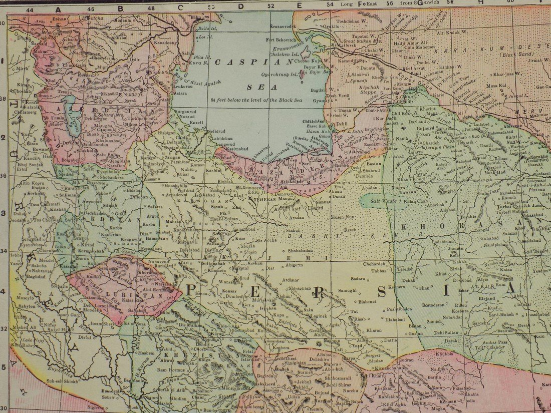 Map of Persia, 1902 - 2