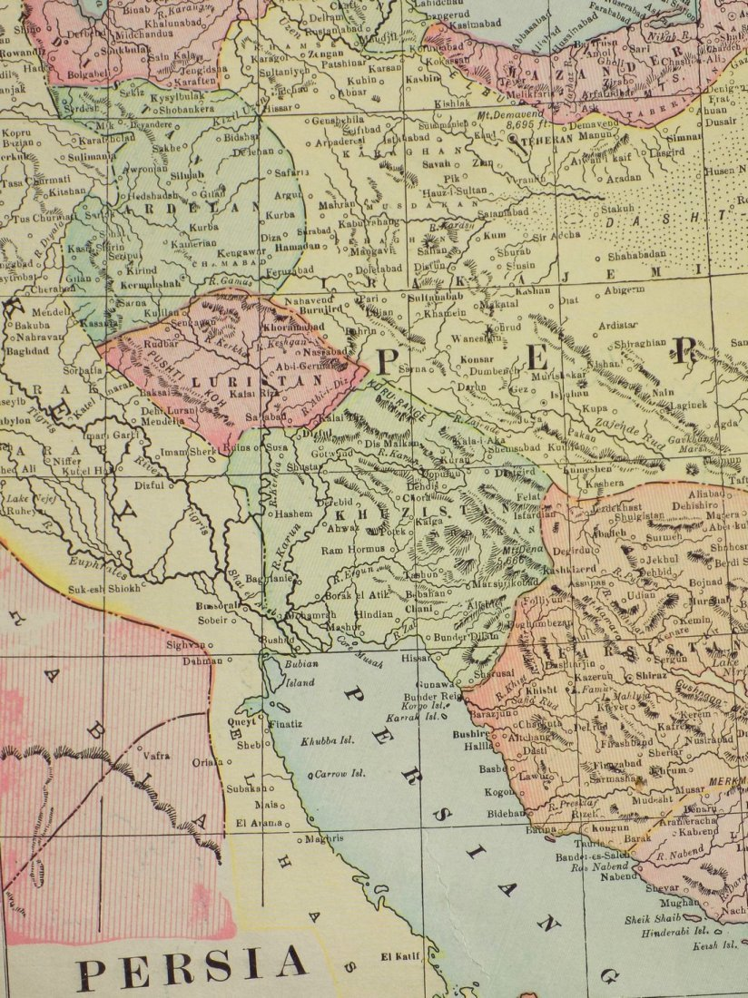 Map of Persia, 1902 - 4