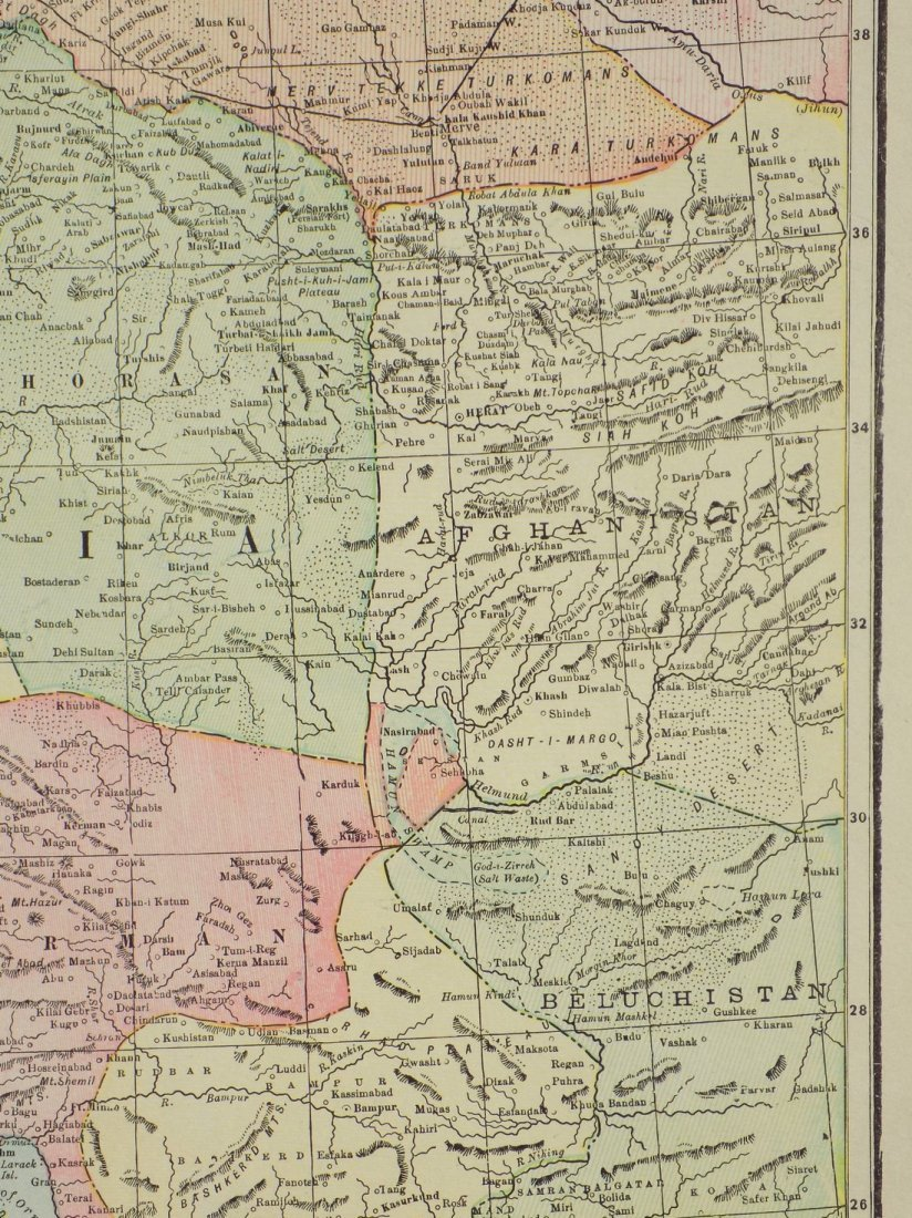 Map of Persia, 1902 - 5