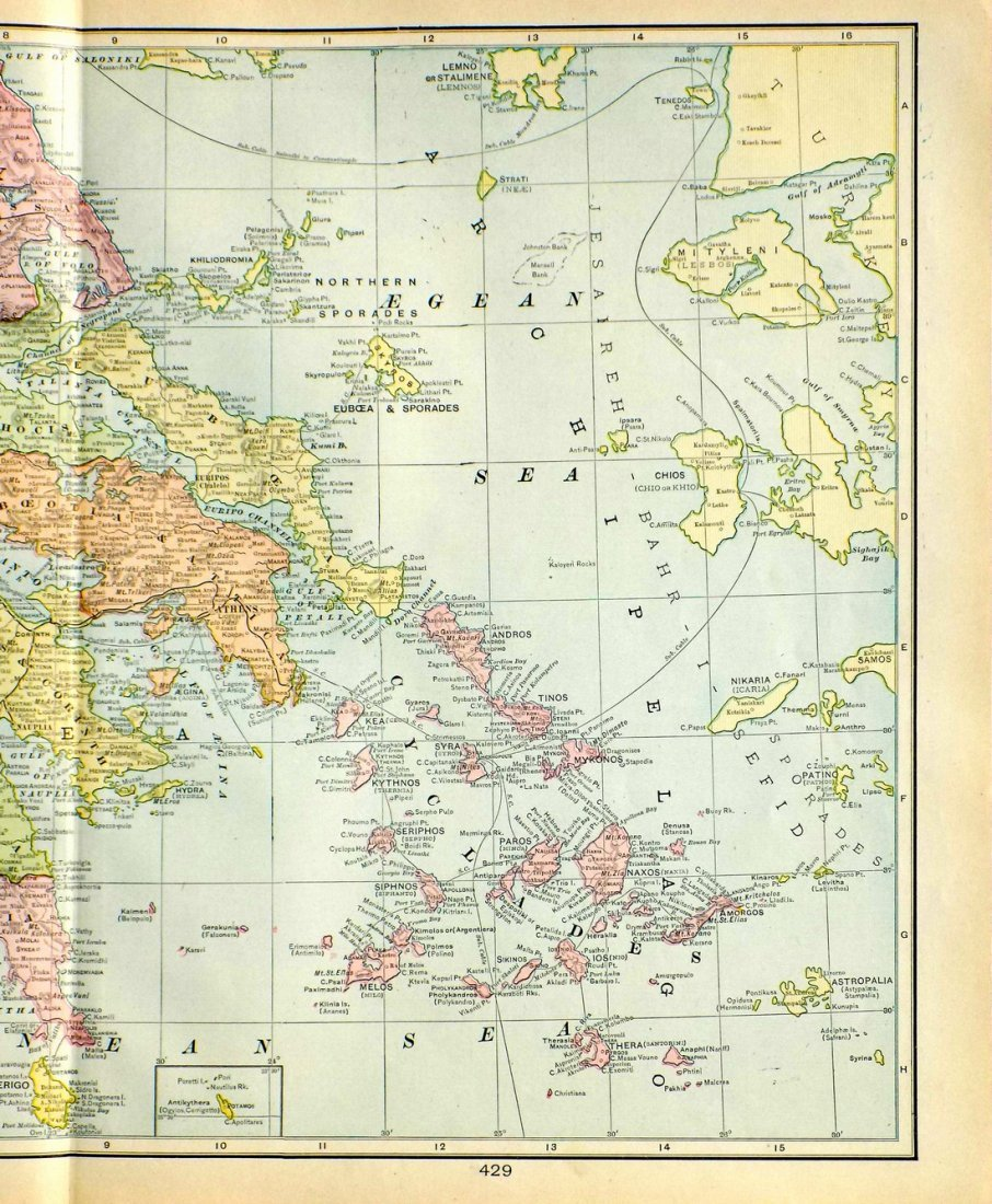 Map of Greece, 1902 - 2