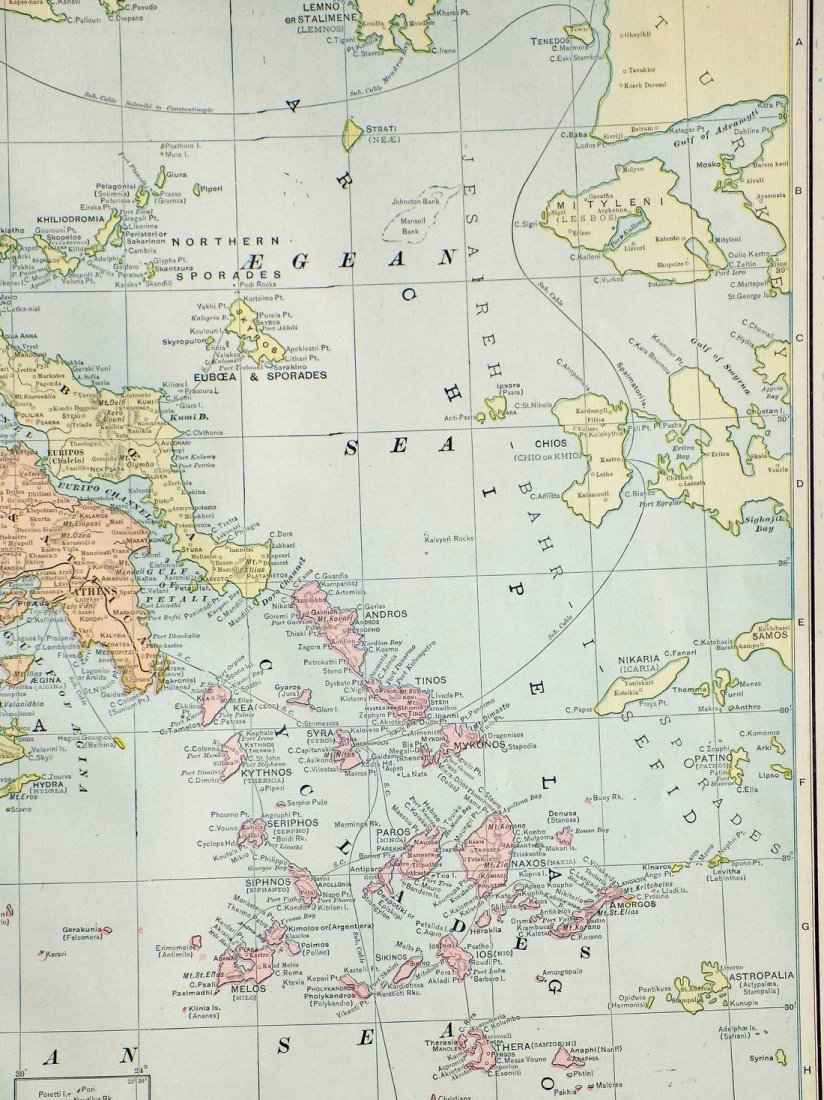 Map of Greece, 1902 - 5
