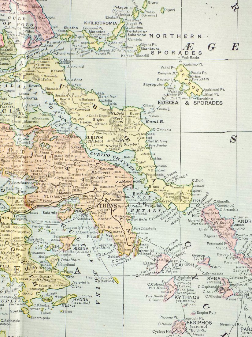 Map of Greece, 1902 - 7
