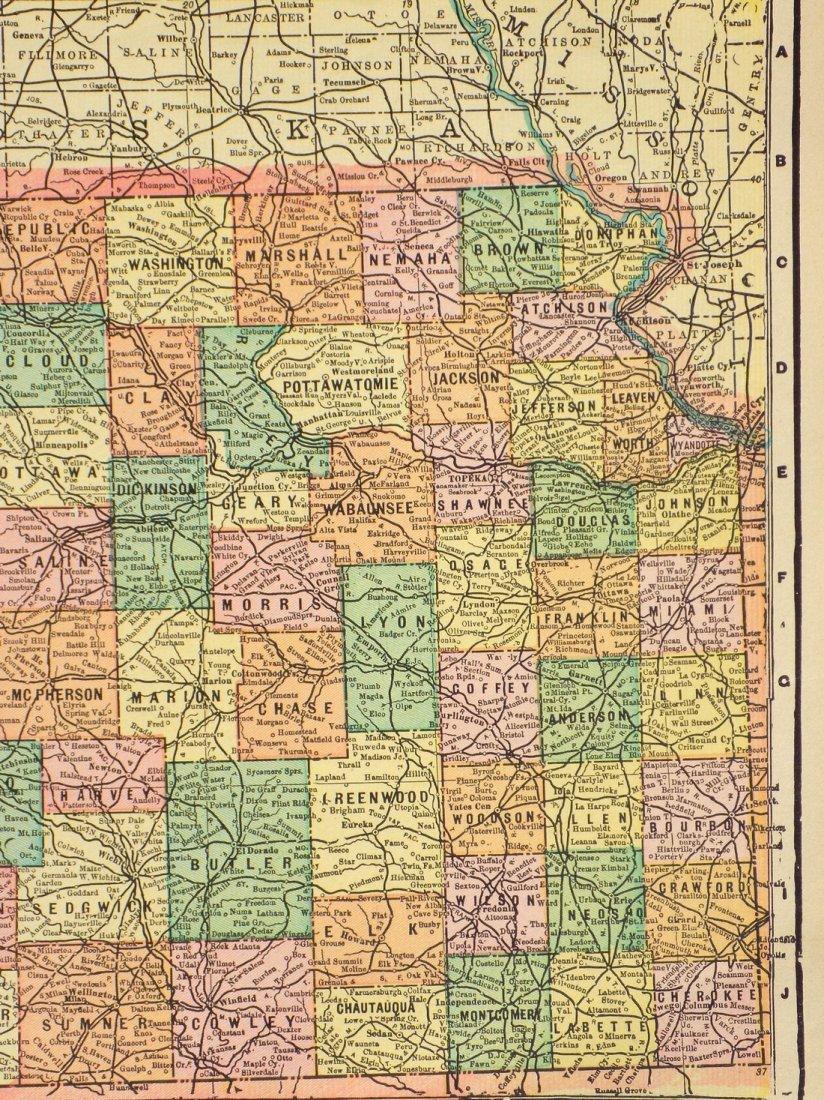 Map of Kansas, 1902 - 4