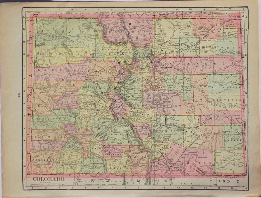 Map of Colorado, 1902