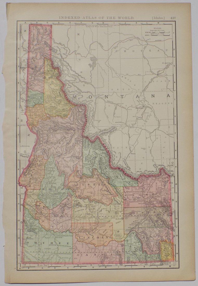 Map of Idaho, 1895