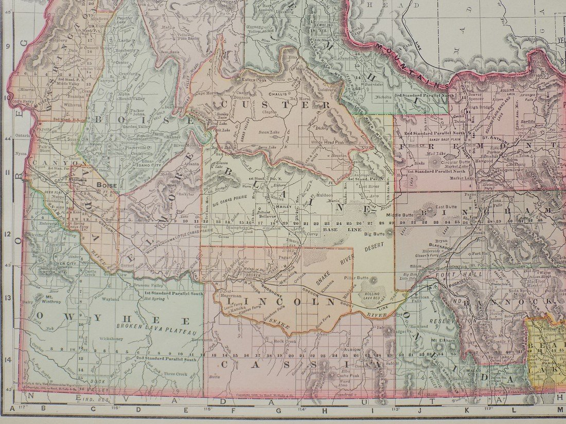 Map of Idaho, 1895 - 5