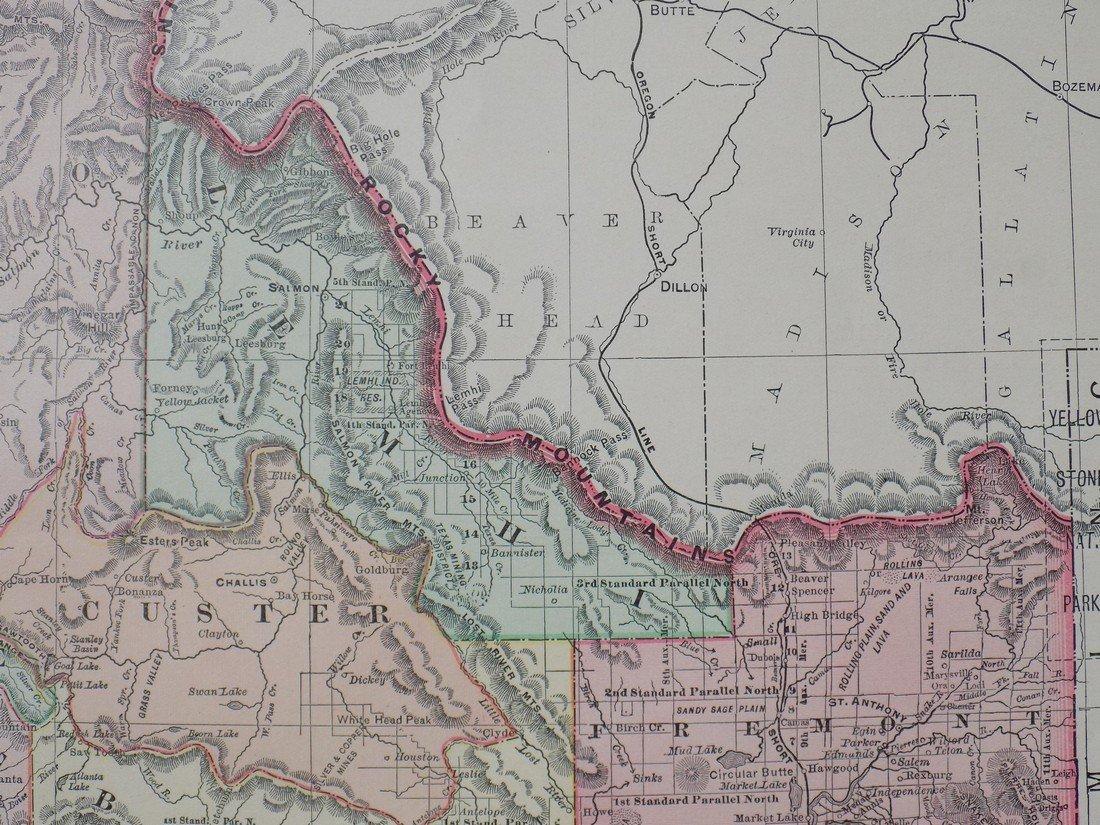 Map of Idaho, 1895 - 6