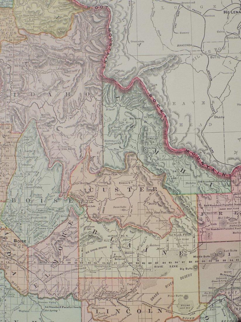 Map of Idaho, 1895 - 7