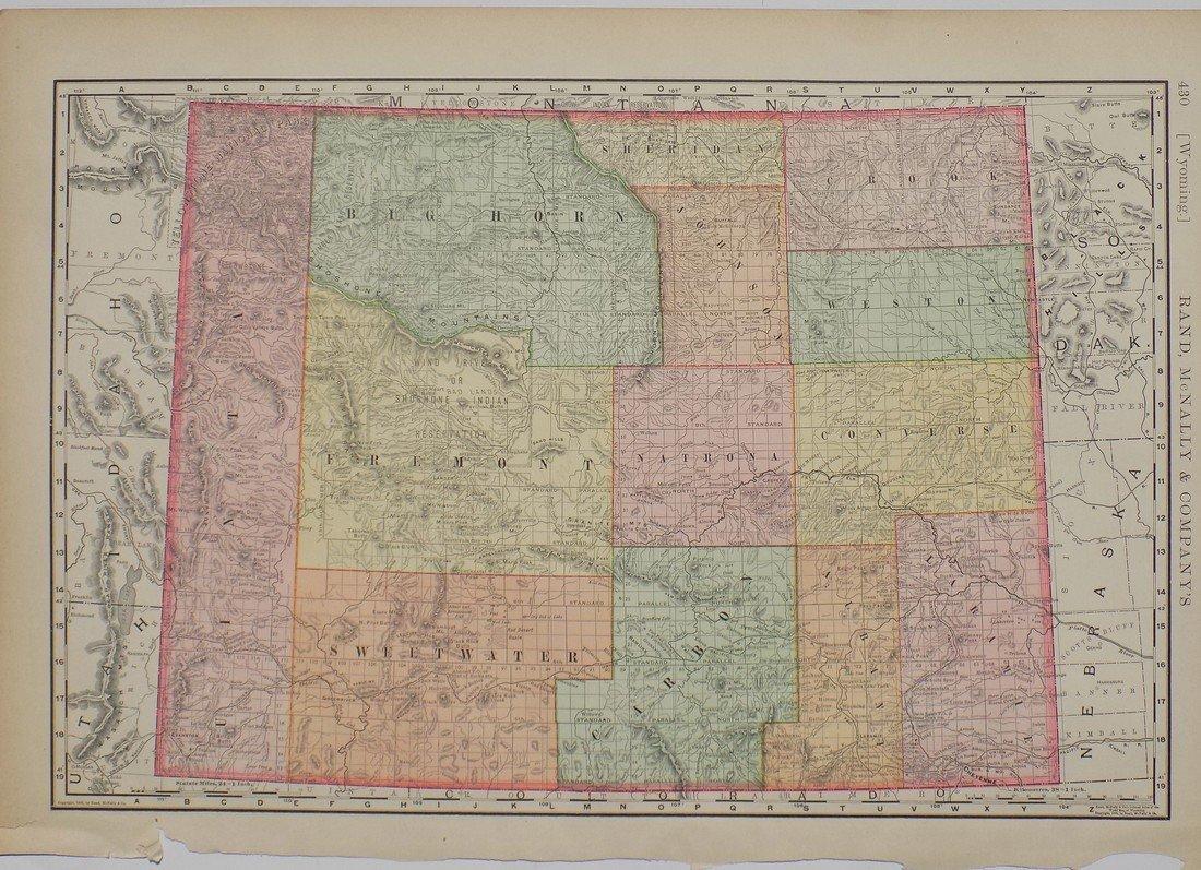 Map of Wyoming, 1895