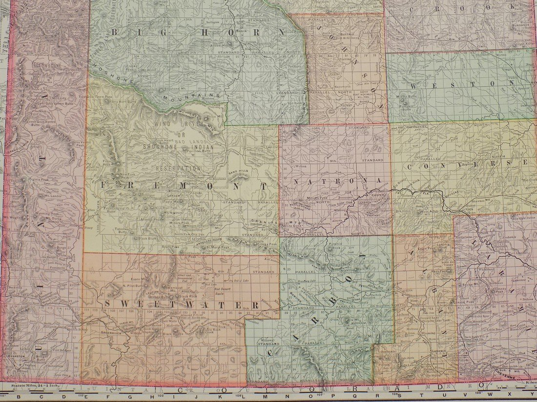 Map of Wyoming, 1895 - 2