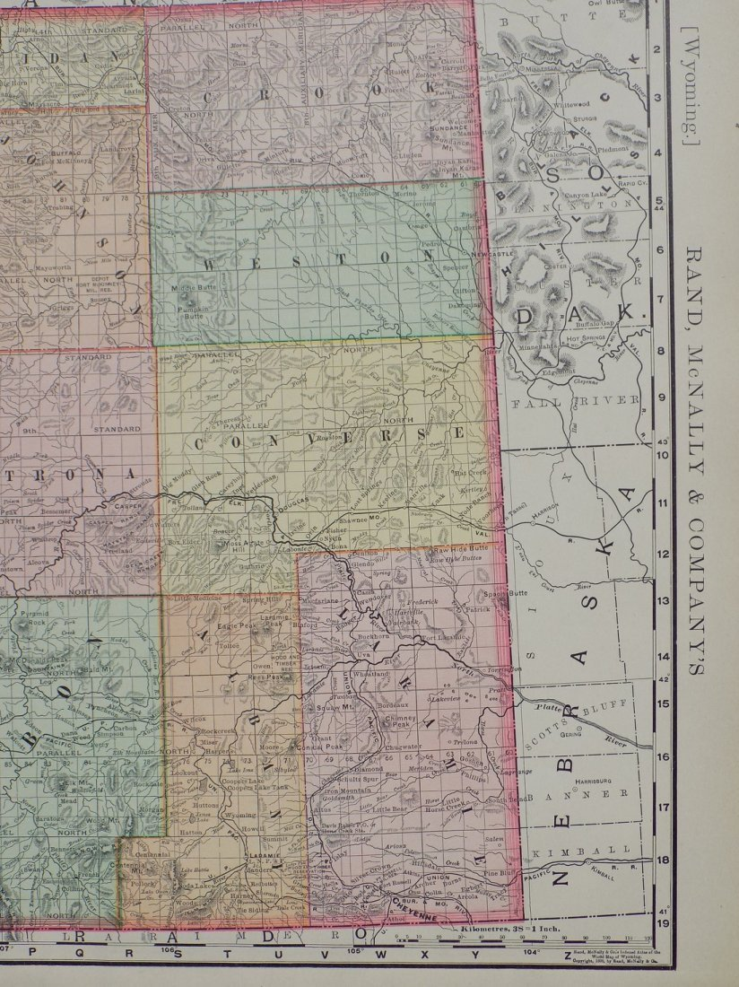 Map of Wyoming, 1895 - 4