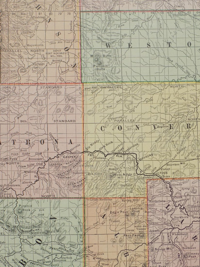 Map of Wyoming, 1895 - 6