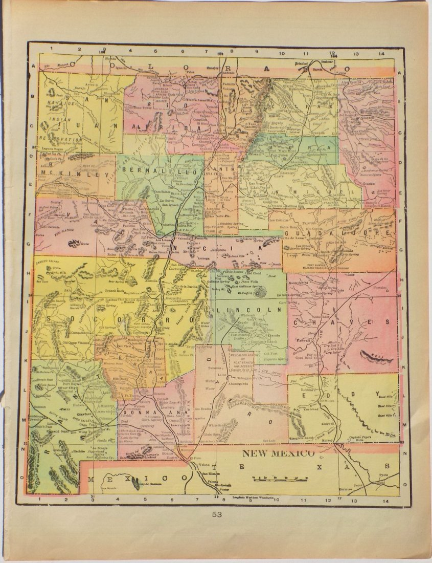 Map of New Mexico, 1902