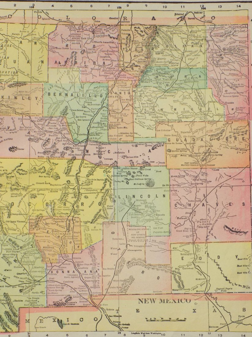 Map of New Mexico, 1902 - 2
