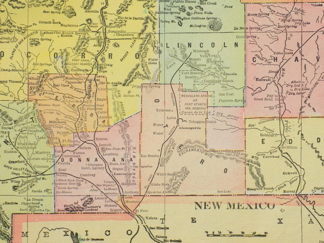 Map of New Mexico, 1902 - 5