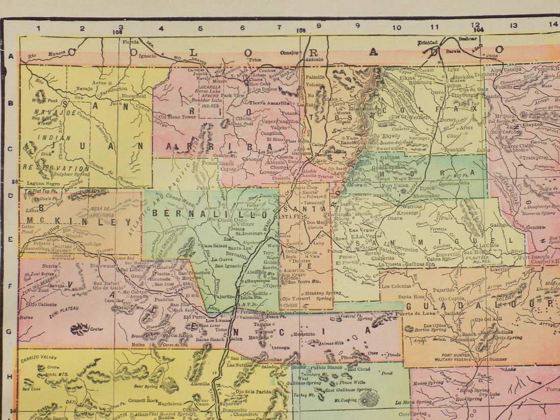 Map of New Mexico, 1902 - 6