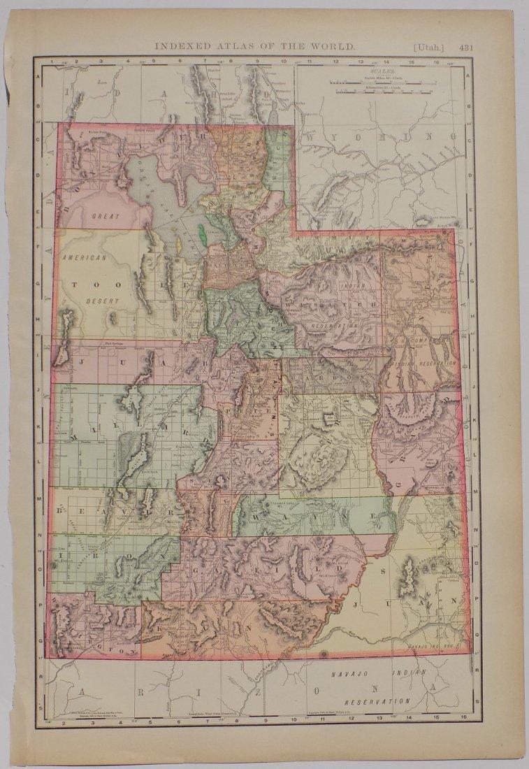 Map of Utah, 1895