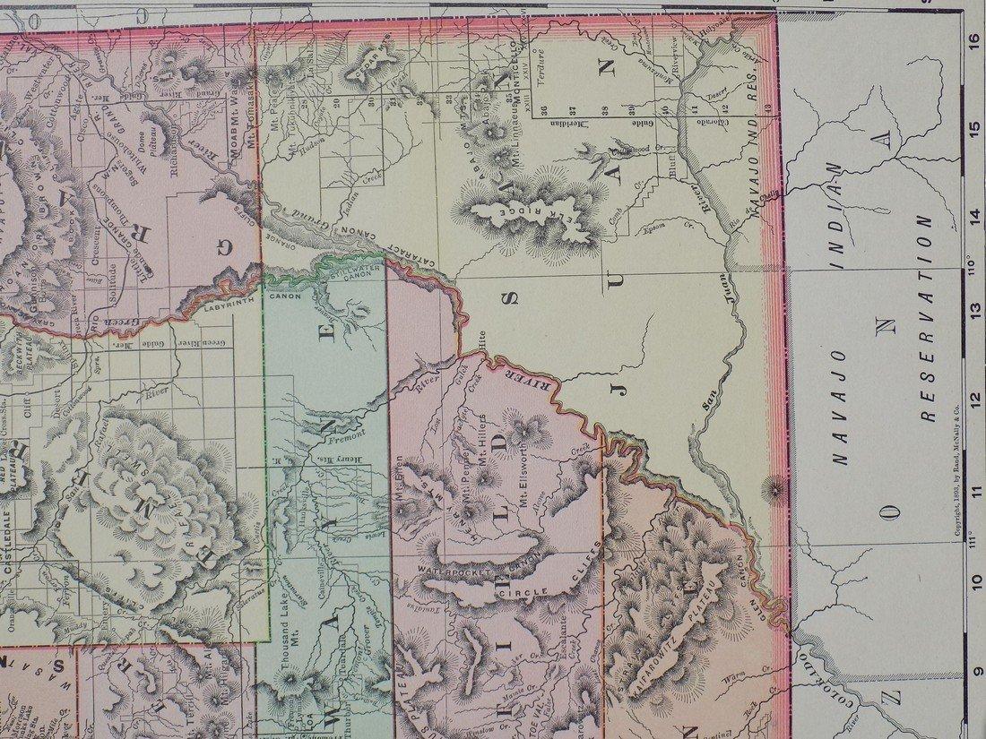 Map of Utah, 1895 - 2