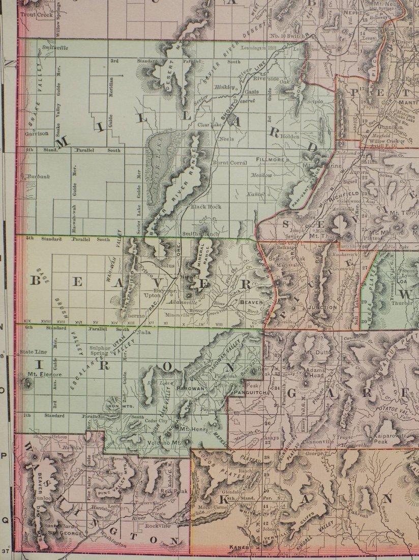 Map of Utah, 1895 - 3